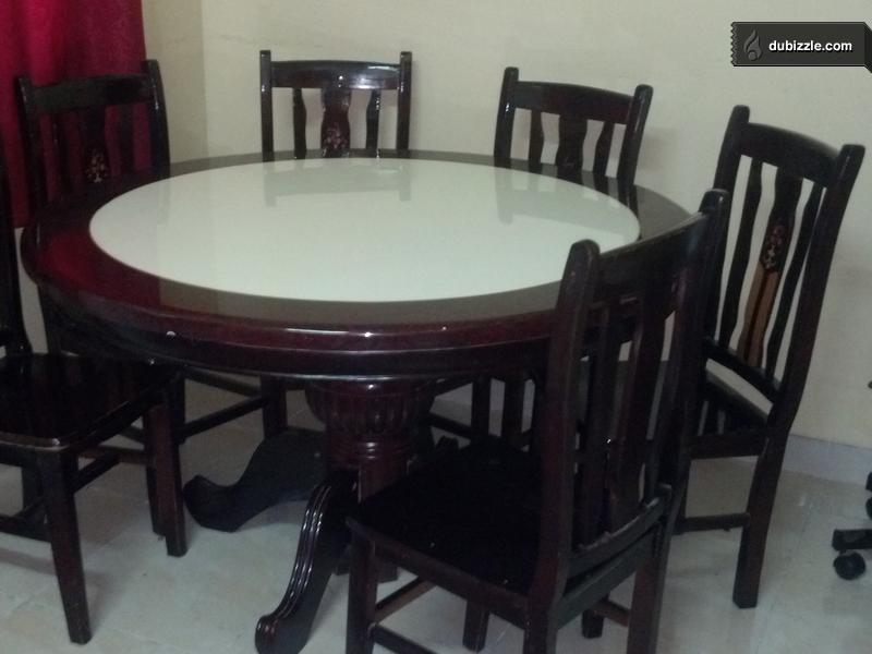 Beautiful Dinning Table With Six Chairs Olx Dubizzle Oman