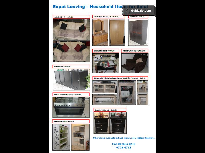 Expat Leaving Household Items For Sale Olx Dubizzle Oman