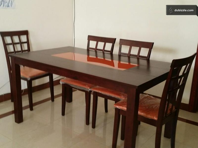 6 Chairs Dining Table In Very Good Condition Olx Dubizzle Oman