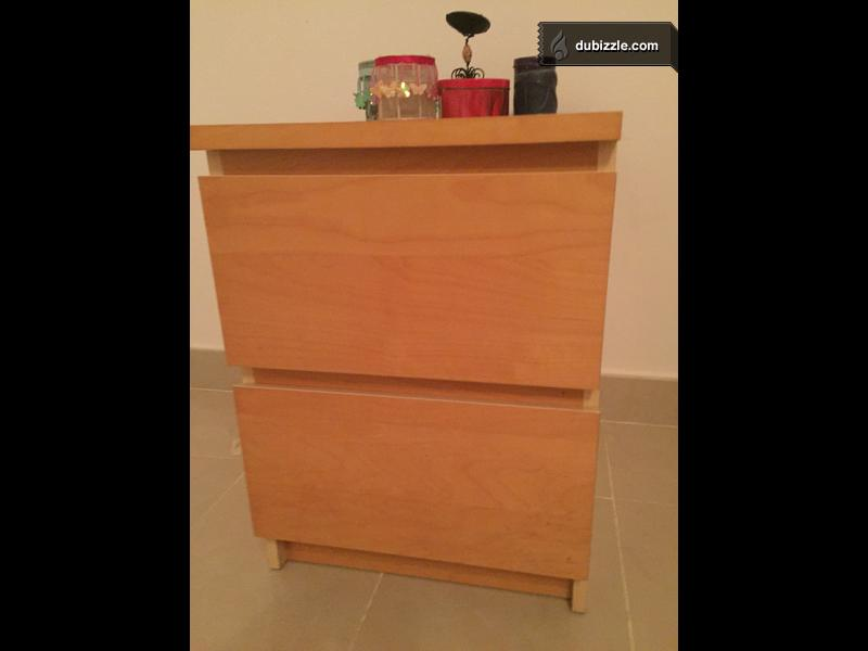 Ikea Bedside Furniture With 2 Drawers Olx Dubizzle Oman