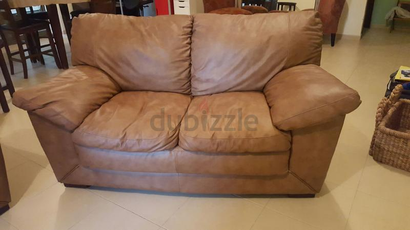 Dubizzle Dubai Sofas Futons Lounges Tan Leather Sofa Couch 3 2 Seater