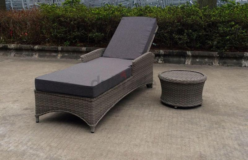 Dubizzle Dubai Garden Furniture Patio Balcony Outdoor Garden Furniture Sunlounger In Grey