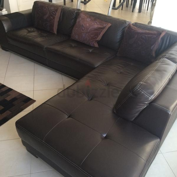 Dubizzle Dubai Sofas Futons Lounges Brown Leather Corner Sofa With Chaise Best Offer