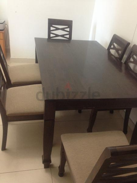 Dubizzle dubai dining sets wooden dining table with 6 chairs for immediate sale Marlin home furniture dubai