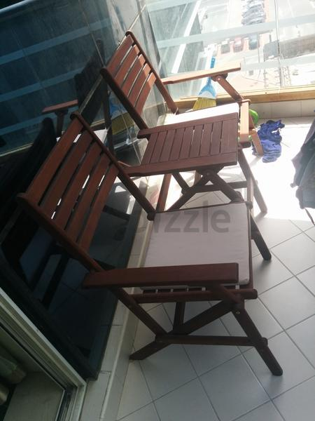 Dubizzle Dubai Garden Furniture Foldable Chair Set For Balcony