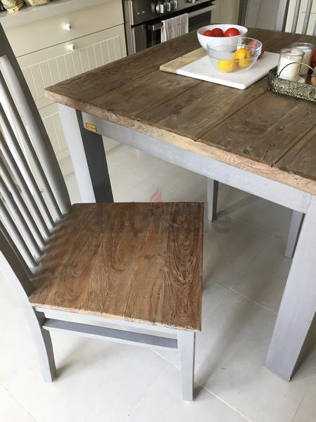 Dubizzle Dubai Tables Wooden Table With 2 Chairs From Marina 1 500 Dhs Only