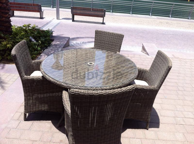 Dubizzle Dubai Garden Furniture 4 Seat Round Dining Set Outdoor Garden Furniture For Balcony