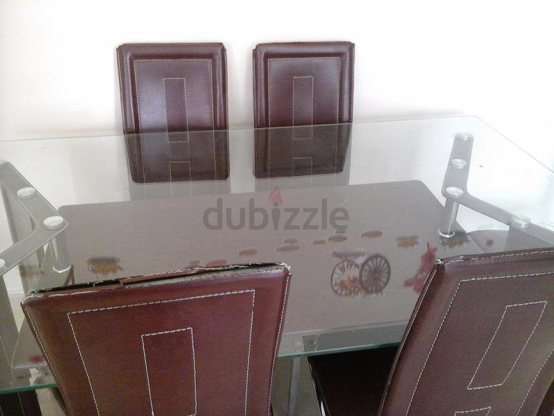 Dubizzle Abu Dhabi Dining Sets Glass Top Dining Table W 6 Chairs From Pan Emirates For Sale