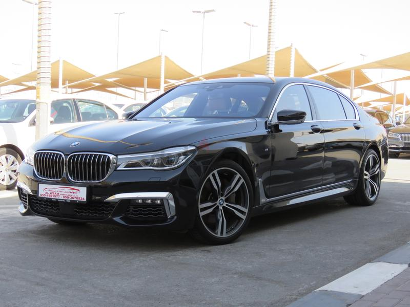 BMW 750Li XDRIVE 2017 M SPORT FULL OPTION BLACK UNDER WARRANTY AND FREE SERVICE GCC SPECS