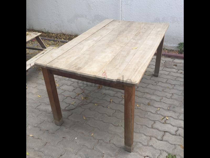 Outdoor Solid Wood Table   AED 50