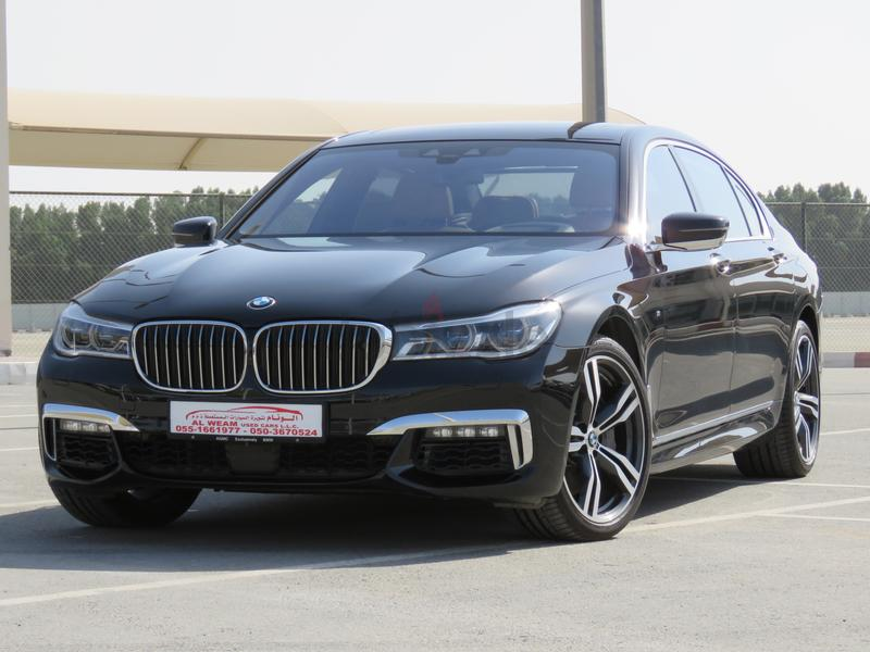 BMW 750Li XDRIVE M SPORT 2017 BLACK UNDER WARRANTY AND FREE SERVICE GCC SPECS