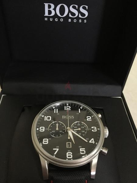 Black White Hugo Boss Chronograph elegant Men...