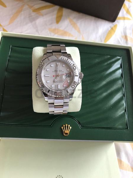Rolex yacht master 40mm platinum bezel and di...