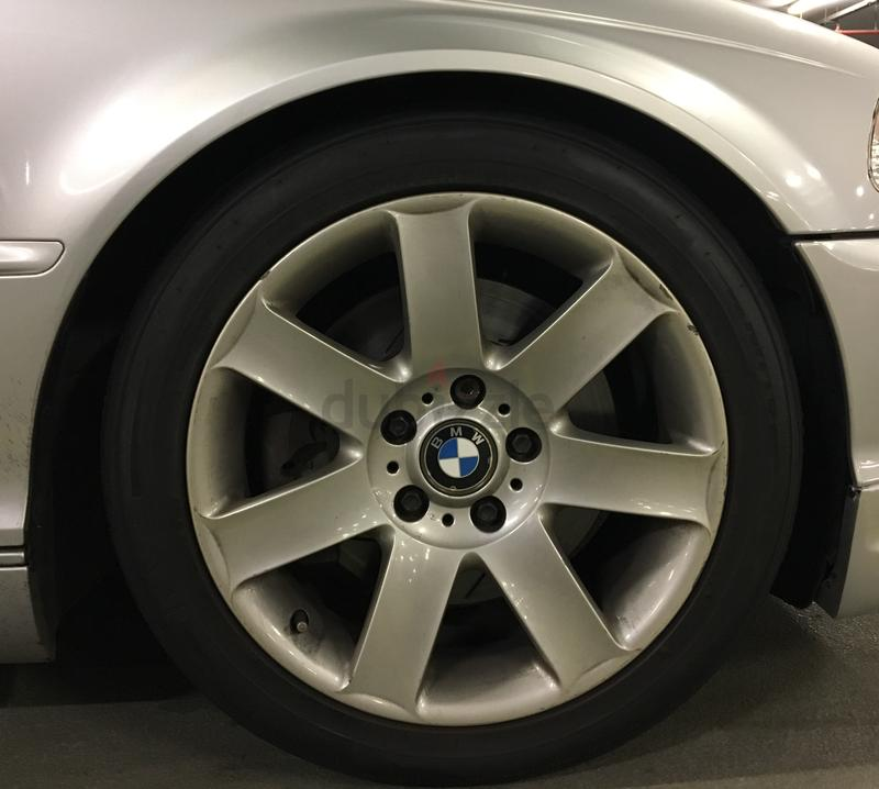 Original BMW 17 inch wheels with tires
