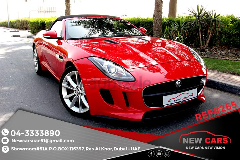 Jaguar F Type  2014  AL TAYER FSH   ZERO DOWN PAYMENT   2645 AED/MONTHLY    1 YEAR WARRANTY