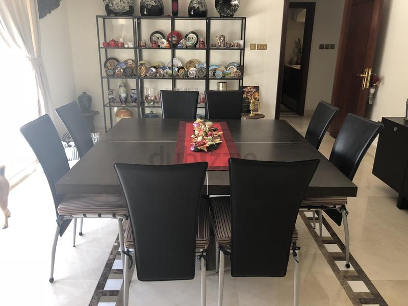Dubizzle Dubai Dining Sets 8 Seater Perfectly Square Table SetSquare And Chairs