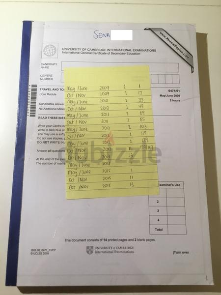 dubizzle Abu Dhabi | A Levels/High School: IGCSE Travel Tourism Past