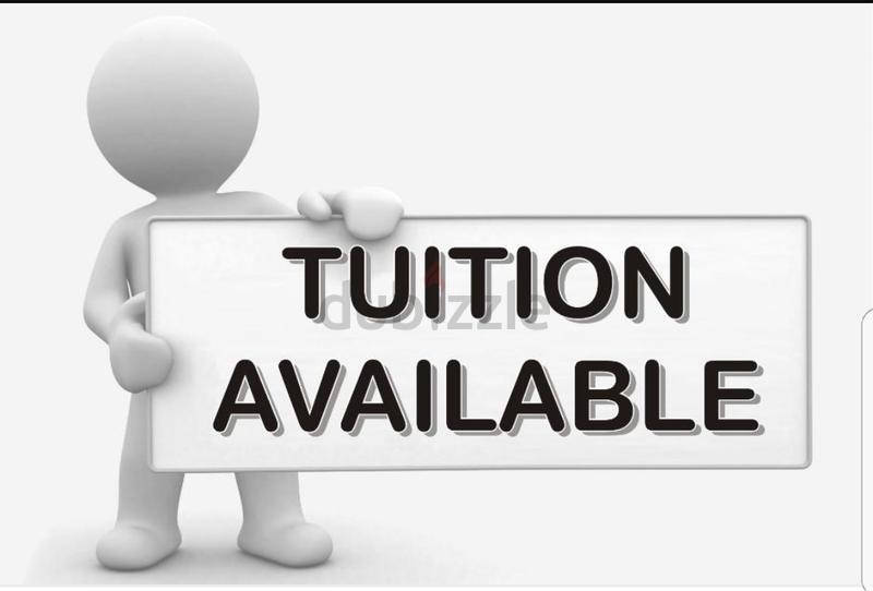 Home tuitions for all subject and best englis...