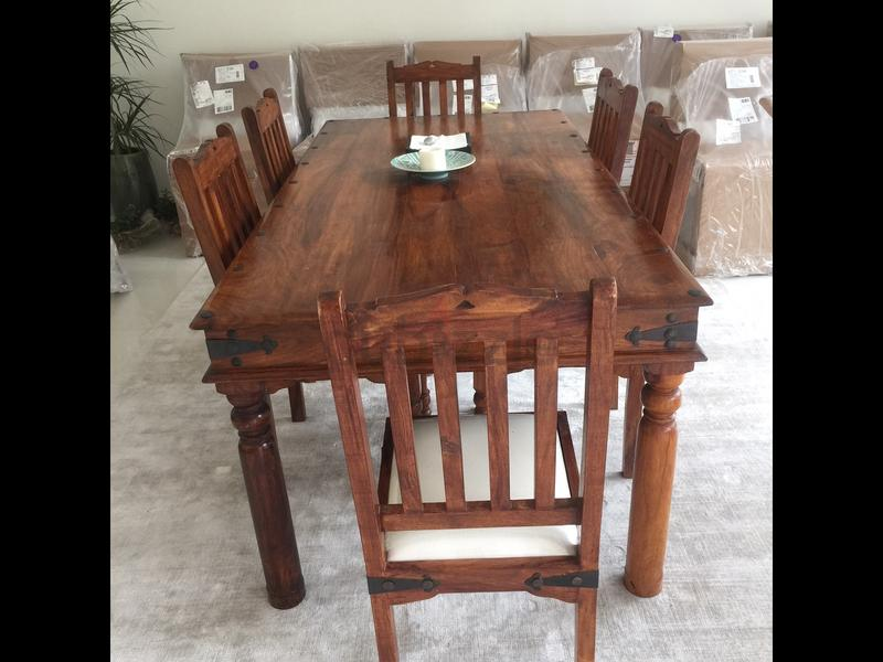 Marina Wood Dining Table 6 Chairs For Sale