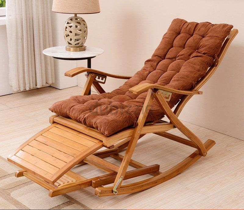 Adjule Foldable Wooden Rocking Relaxing Chair Aed 500