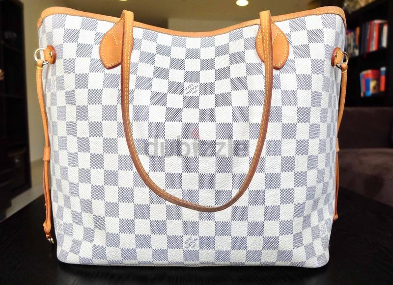 641ac6f32fe8 SOLD    Authentic Louis Vuitton Neverfull Damier Azur MM - AED 2
