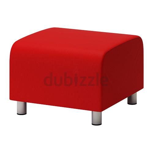 Footstool Pouffe Red Aed 140