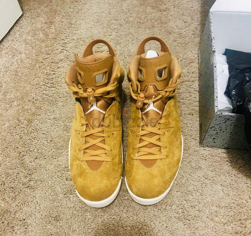 ebc3fde69213be (NEW) Nike Air Jordan Retro 6 Wheat Shoes Sneakers - AED 550