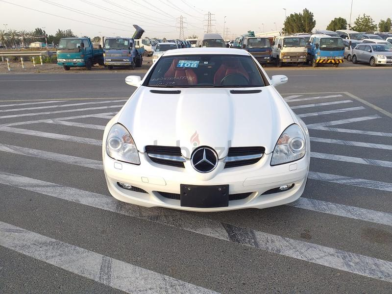 2006 MERCEDES BENZ SLK350 RED INTERIOR (FULL OPTION) WHITE    IMPORT FROM  JAPAN