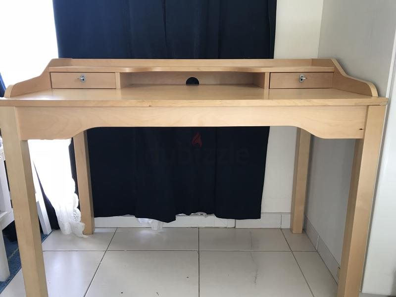 Ikea Study table + Bookcase (Or sold separately)