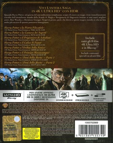 Harry Potter Film Collection 4K Ultra HD - 8 Disc Set BluRay