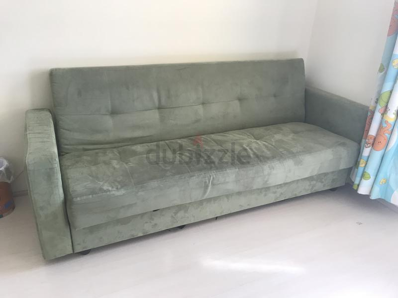 Green Comfortable Sofa Bed For 1 Person